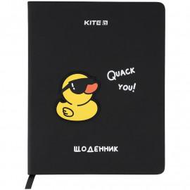 Щоденник шкільний тверда обкладинка PU Kite Duck K..