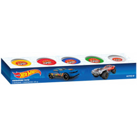 Тісто для ліплення кольорове 5 кольорів по 75 грам Kite Hot Wheels HW19-152, 40597