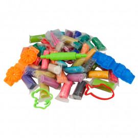 Кольорове тісто для ліпки 50 штук по 20 грам асорті кольорів Kite Jolliers, K19-138, 41059