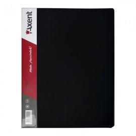 Папка швидкозшивач А4, з металевим притиском, чорна, Axent, 1304-01-A, 02467