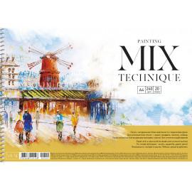 Альбом Mix Technique А4 20 аркушів на спіралі 240 г/м2 Muse Школярик, 219128