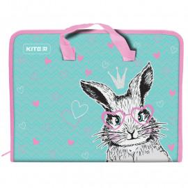 Папка-портфель А4  на блискавці Kite Cute Bunny K21-202-01, 47956
