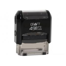 Оснастка 4911 Р3 GLOSSY 38х14 мм чорна GRAFF, 4210401