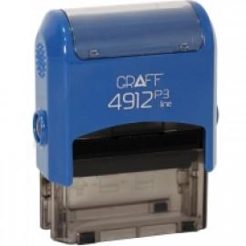 Оснастка 4911 Р3 GLOSSY 38*14 мм синя GRAFF, 4210402